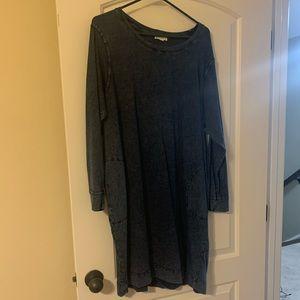 Denim color cotton dress